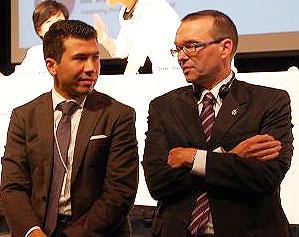 Han Voice Chair Randall Baran-Chong and MP Barry Devolin