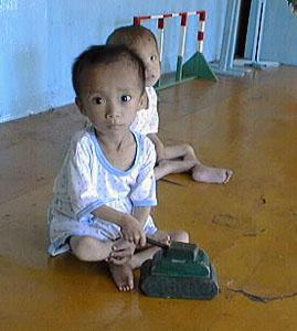 Child in a Wonsan Nursery, DPRK