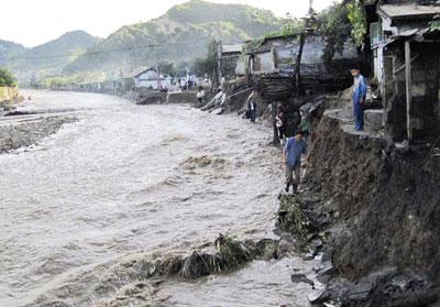 Floods in Wonsan, DPRK