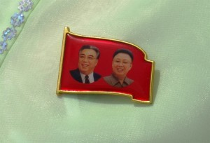 Figure1: North Korea's New Leadership Badge (photo by Rudiger Frank)