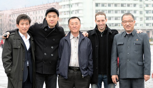 Matt Reichel & friends in Hamhung, DPRK