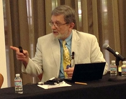 Author Erich Weingartner at the UCLA conference on Ending the Korean War (Photo by Kil Sang Yoon)