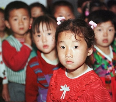 Kindergarten children in Wonsan (Photo by EPD)