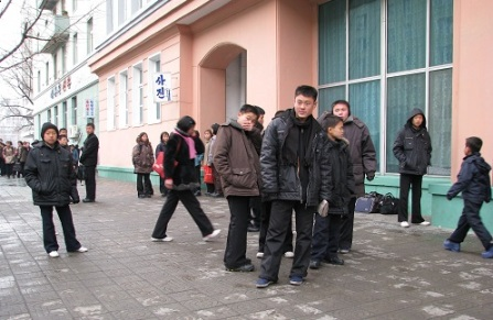 Young people on the streets of Pyongyang (Photo by Erich Weingartner)
